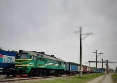 Перегрузка контейнерных поездов